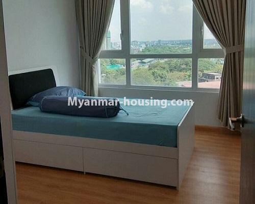 Myanmar real estate - for rent property - No.3920 - Decorated condo room for rent in G.E.M.S Hlaing! - bedroom 2 view