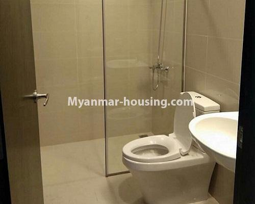 Myanmar real estate - for rent property - No.3920 - Decorated condo room for rent in G.E.M.S Hlaing! - compound bathroom view