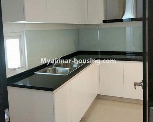 Myanmar real estate - for rent property - No.3920 - Decorated condo room for rent in G.E.M.S Hlaing! - kitchen view