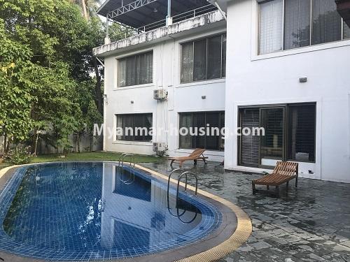 မြန်မာအိမ်ခြံမြေ - ငှားရန် property - No.3931 - မရမ်းကုန်း၊ ၇ မိုင်ခွဲတွင် ရုံးခန်းကြီးဖွင့်ရန်အတွက် ခြံကျယ် လုံးချင်းတစ်လုံးချင်း ငှါးရန်ရှိသည်။pool view