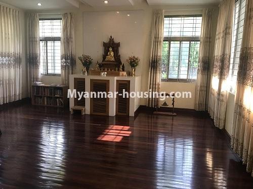 မြန်မာအိမ်ခြံမြေ - ငှားရန် property - No.3931 - မရမ်းကုန်း၊ ၇ မိုင်ခွဲတွင် ရုံးခန်းကြီးဖွင့်ရန်အတွက် ခြံကျယ် လုံးချင်းတစ်လုံးချင်း ငှါးရန်ရှိသည်။shrine room