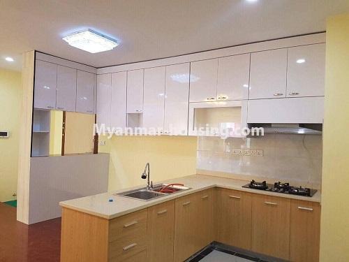 မြန်မာအိမ်ခြံမြေ - ငှားရန် property - No.3998 - စွယ်တော် City တွင် ကွန်ဒိုခန်းကောင်းတစ်ခန်းဌားရန် ရှိသည်။View of Kitchen room