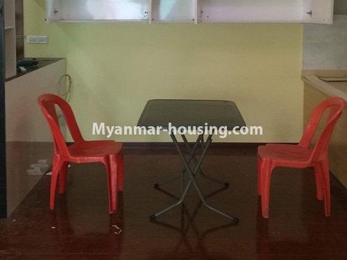မြန်မာအိမ်ခြံမြေ - ငှားရန် property - No.3998 - စွယ်တော် City တွင် ကွန်ဒိုခန်းကောင်းတစ်ခန်းဌားရန် ရှိသည်။View of the Kitchen room