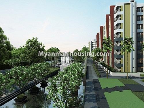 မြန်မာအိမ်ခြံမြေ - ငှားရန် property - No.3998 - စွယ်တော် City တွင် ကွန်ဒိုခန်းကောင်းတစ်ခန်းဌားရန် ရှိသည်။view of the building with big compound