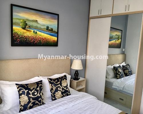 မြန်မာအိမ်ခြံမြေ - ငှားရန် property - No.4001 - ဒဂုံဆိပ်ကမ်းမြို့နယ်တွင် တိုက်သစ်ကွန်ဒွန်ခန်းငှါးရန်ရှိသည်။bedroom