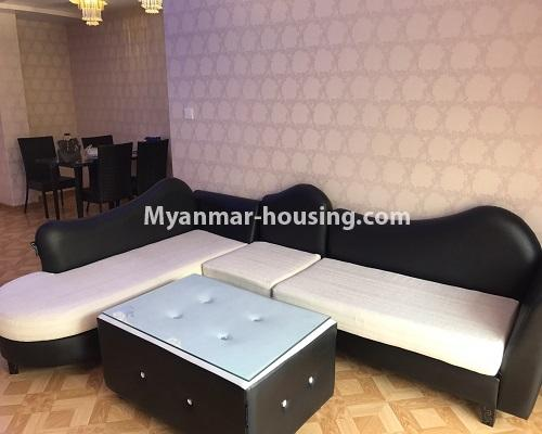 Myanmar real estate - for rent property - No.4013 - Star City Condo room for rent in Thanlyin! - living room