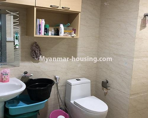Myanmar real estate - for rent property - No.4013 - Star City Condo room for rent in Thanlyin! - bathroom