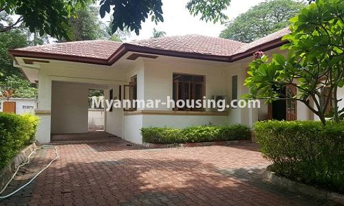 Myanmar real estate - for rent property - No.4014 - Landed house for rent in Lawkanat Housing Haling! - house view