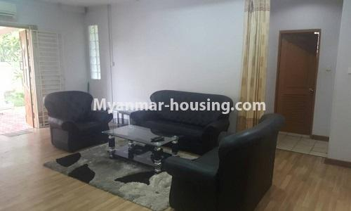 Myanmar real estate - for rent property - No.4014 - Landed house for rent in Lawkanat Housing Haling! - living room view