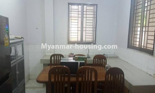 Myanmar real estate - for rent property - No.4014 - Landed house for rent in Lawkanat Housing Haling! - dining room view