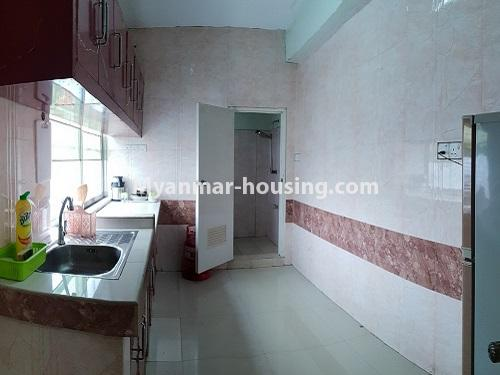 Myanmar real estate - for rent property - No.4025 - Penthouse and 8 floor for rent in Yae Kyaw Street. - kitchen