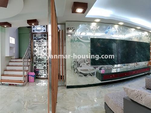 Myanmar real estate - for rent property - No.4025 - Penthouse and 8 floor for rent in Yae Kyaw Street. - another view of living room