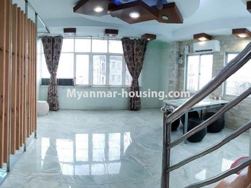 Myanmar real estate - for rent property - No.4025 - Penthouse and 8 floor for rent in Yae Kyaw Street. - hall view