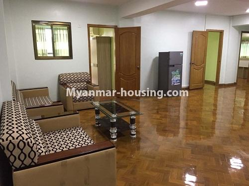 Myanmar real estate - for rent property - No.4028 - Decorated room for rent in Yankin! - living room