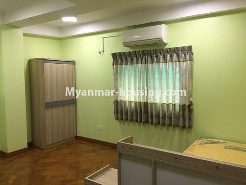 Myanmar real estate - for rent property - No.4028 - Decorated room for rent in Yankin! - another master bedroom.