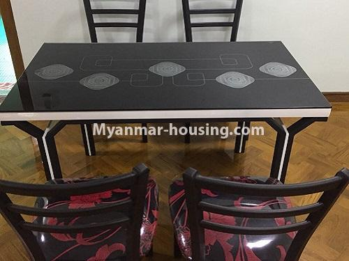 Myanmar real estate - for rent property - No.4028 - Decorated room for rent in Yankin! - dining area