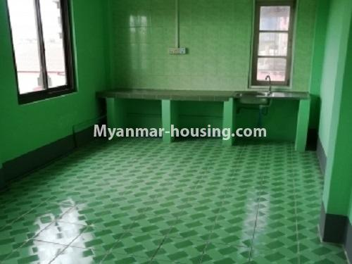 Myanmar real estate - for rent property - No.4034 - Apartment for rent in Bahan! - another view of the kitchen