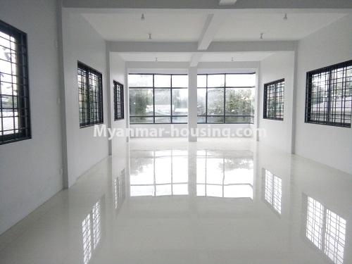 Myanmar real estate - for rent property - No.4068 - A Good Landed house for rent in Insein Township. - living room hall