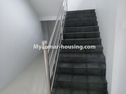 Myanmar real estate - for rent property - No.4068 - A Good Landed house for rent in Insein Township. - stairs view