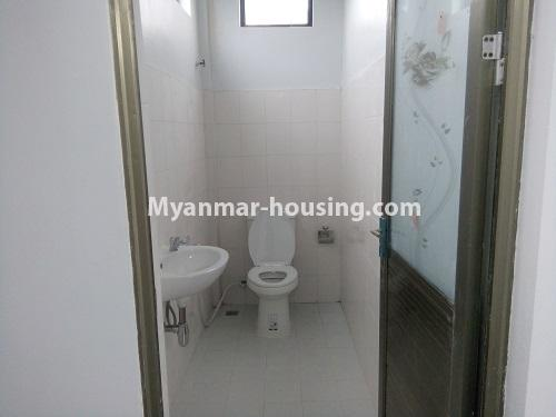 Myanmar real estate - for rent property - No.4068 - A Good Landed house for rent in Insein Township. - toilet
