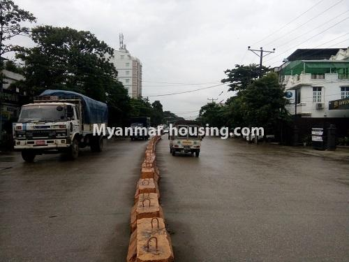 Myanmar real estate - for rent property - No.4068 - A Good Landed house for rent in Insein Township. - road view