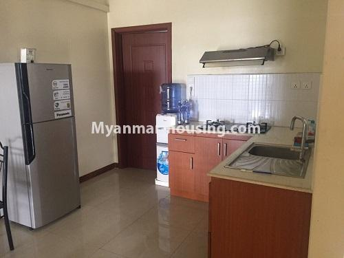 ミャンマー不動産 - 賃貸物件 - No.4100 - A Good Condominium room for rent in Mingalar Taung Nyunt. - kitchen