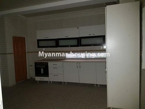 Myanmar real estate - for rent property - No.4125 - A good condominium for rent in Ahlone. - kitchen room