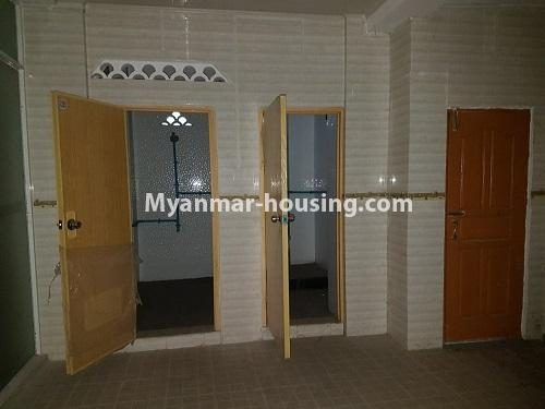 Myanmar real estate - for rent property - No.4125 - A good condominium for rent in Ahlone. - bathroom