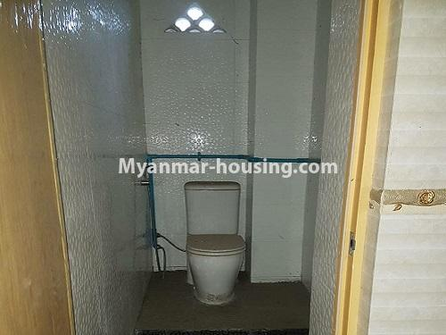 Myanmar real estate - for rent property - No.4125 - A good condominium for rent in Ahlone. - Toilet