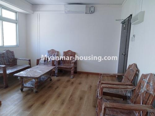 Myanmar real estate - for rent property - No.4234 - New condo room for rent in Dagon Seikkan! - View of the living room