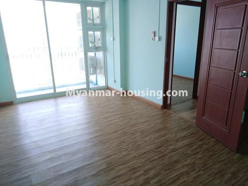Myanmar real estate - for rent property - No.4234 - New condo room for rent in Dagon Seikkan! - View of the bed room