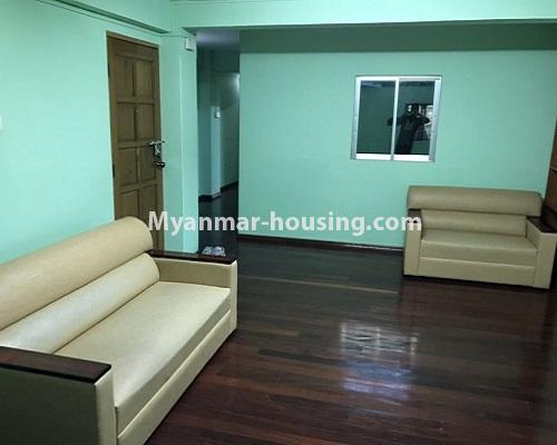 Myanmar real estate - for rent property - No.4235 - Apartment for rent in Kyauk Kone, Yankin! - living room view