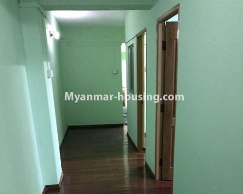 Myanmar real estate - for rent property - No.4235 - Apartment for rent in Kyauk Kone, Yankin! - hallway