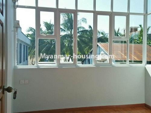 Myanmar real estate - for rent property - No.4236 - Landed House for rent in Thuwana, Thin Gan Gyun Township. - another bedroom and outside view