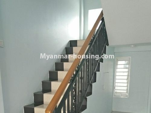 Myanmar real estate - for rent property - No.4236 - Landed House for rent in Thuwana, Thin Gan Gyun Township. - stairs view