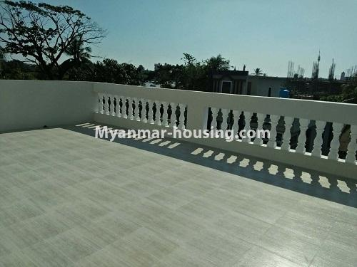 Myanmar real estate - for rent property - No.4236 - Landed House for rent in Thuwana, Thin Gan Gyun Township. - upstairs balclony view