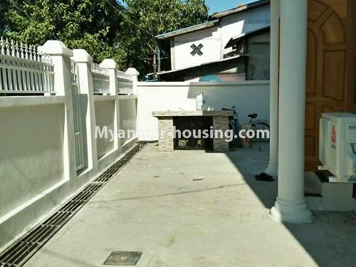 Myanmar real estate - for rent property - No.4236 - Landed House for rent in Thuwana, Thin Gan Gyun Township. - free space in of compound