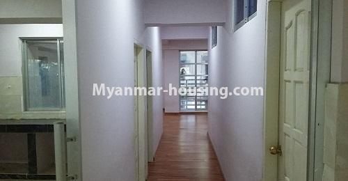 Myanmar real estate - for rent property - No.4238 - Condo room for rent in Thin Gan Gyun! - hallway view