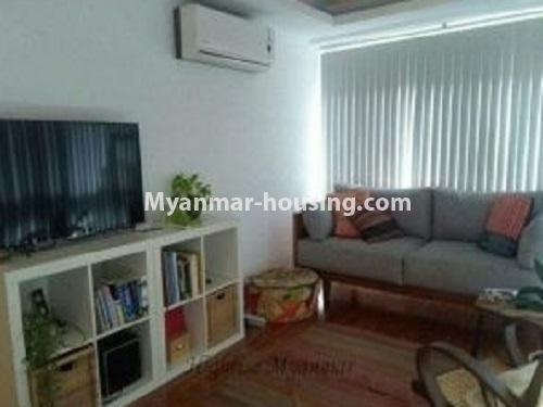 Myanmar real estate - for rent property - No.4240 - Condo room for rent in Bahan! - living room view