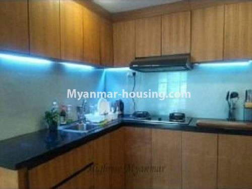 Myanmar real estate - for rent property - No.4240 - Condo room for rent in Bahan! - kitchen view
