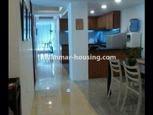 Myanmar real estate - for rent property - No.4240 - Condo room for rent in Bahan! - dining area and kitchen