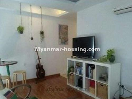 Myanmar real estate - for rent property - No.4240 - Condo room for rent in Bahan! - another view of living room
