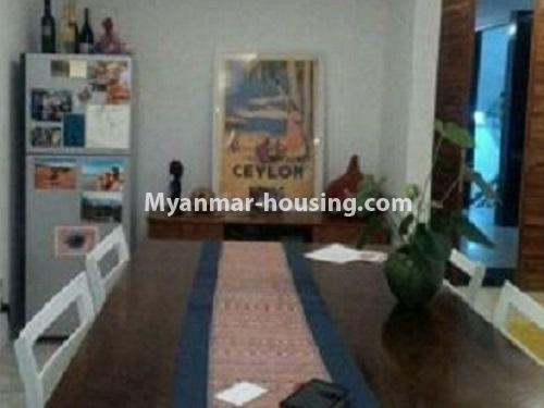 Myanmar real estate - for rent property - No.4240 - Condo room for rent in Bahan! - dining area