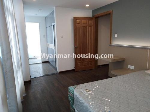 Myanmar real estate - for rent property - No.4242 - New condo room for rent on Parami Road. - master bedrom view