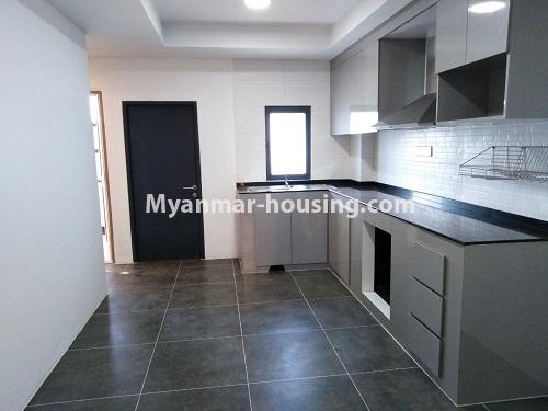 Myanmar real estate - for rent property - No.4242 - New condo room for rent on Parami Road. - kitchen area