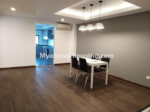 Myanmar real estate - for rent property - No.4242 - New condo room for rent on Parami Road. - dining area