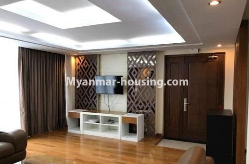 Myanmar real estate - for rent property - No.4271 - Shwe Hin Thar condo room for rent in Hlaing! - another view of living room