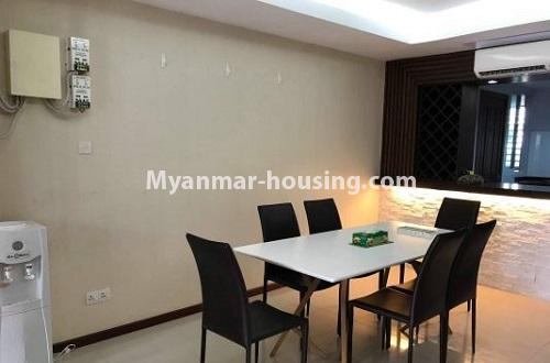 Myanmar real estate - for rent property - No.4271 - Shwe Hin Thar condo room for rent in Hlaing! - dining area view