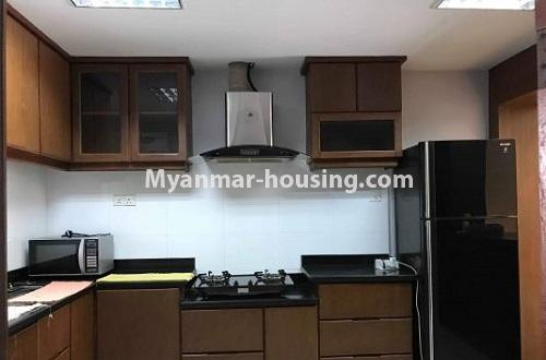 Myanmar real estate - for rent property - No.4271 - Shwe Hin Thar condo room for rent in Hlaing! - kitchen view