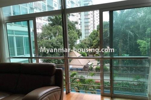 Myanmar real estate - for rent property - No.4271 - Shwe Hin Thar condo room for rent in Hlaing! - outside view from balcony